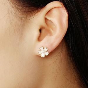 Jewelry - 🌸Super Sweet Pink Enamel & Gold Flower Studs🌸😍